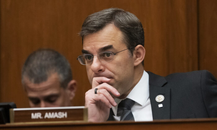 Rep. Justin Amash, R-Mich., listens to a debate on Capitol Hill in Washington, on June 12, 2019. (J. Scott Applewhite/ AP Photo)