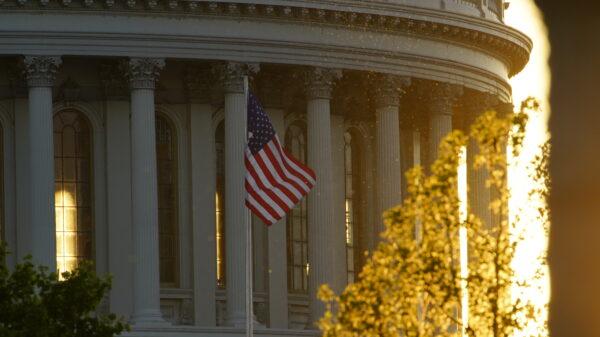 American flag falun dafa day