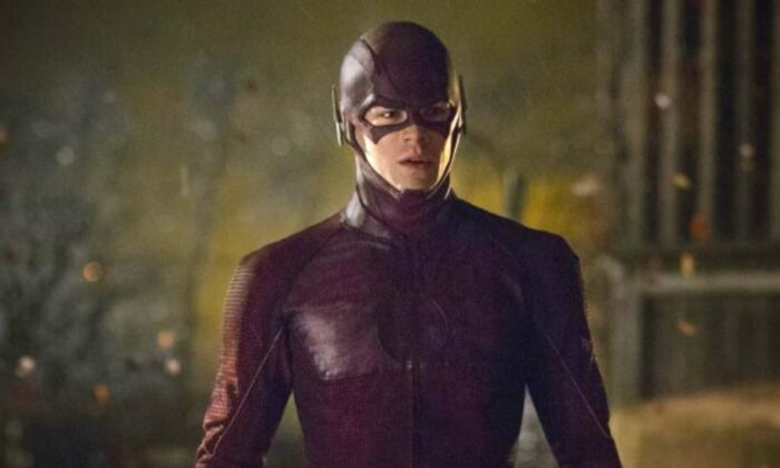 "In this image released by The CW,  Grant Gustin portrays The Flash in a scene from ""The Flash."" (The CW, Jack Rowand/AP Photo)"