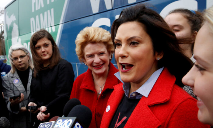 Michigan Gov. Gretchen Whitmer at a polling station in East Lansing, Michigan, on Nov. 6, 2018. (Jeff Kowalsky/Reuters)