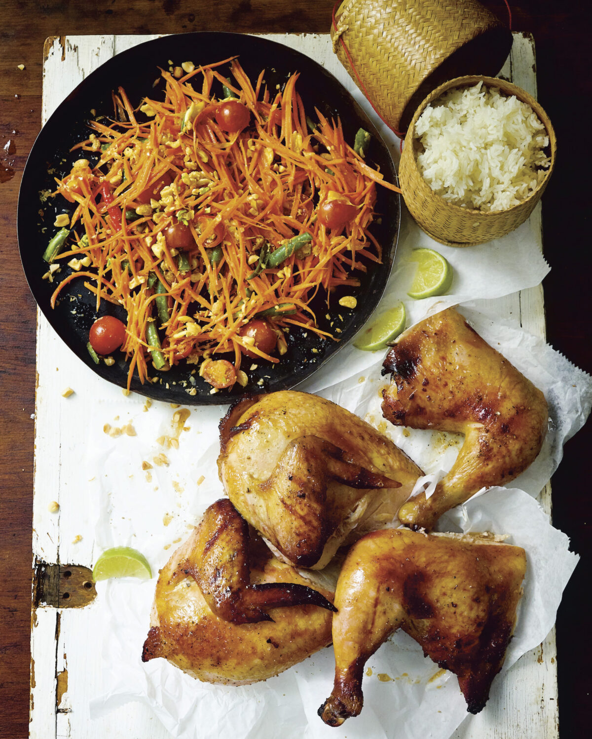 Grilled Chicken and Spicy Carrot Salad