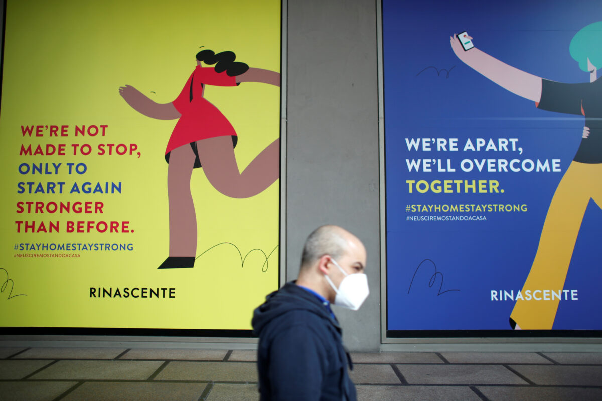 billboards of La Rinascente department store