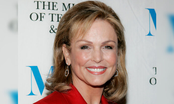 "Phyllis George arrives at the Museum of Television and Radio ""She Made It"" launch party in New York on Dec. 1, 2005. (Stephen Chernin/AP Photo)"