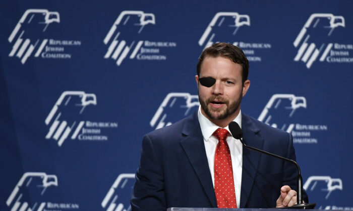 U.S. Rep. Dan Crenshaw (R-Texas) speaks at the Republican Jewish Coalition's annual leadership meeting at The Venetian Las Vegas in Nevada April 6, 2019. (Ethan Miller/Getty Images)