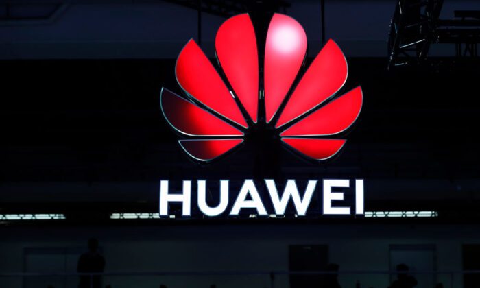 A Huawei sign is on display during the 10th Global mobile broadband forum in Zurich on Oct. 15, 2019. (Stefan Wermuth/AFP via Getty Images)