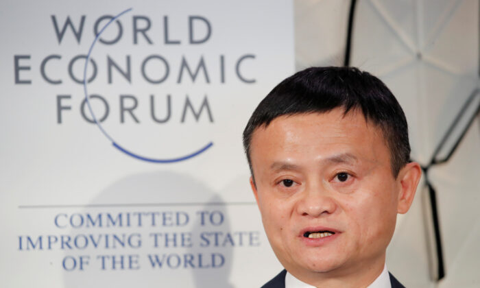 Jack Ma, chairman of Alibaba Group attends the World Economic Forum (WEF) annual meeting in Davos, Switzerland, on Jan. 23, 2019. (Arnd Wiegmann/Reuters)