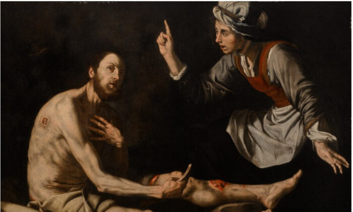 "Job is plagued by sores in ""Job on the Ash Heap,"" 1600s, by Jusepe de Ribera (called Lo Spagnoletto). (Public Domain)"