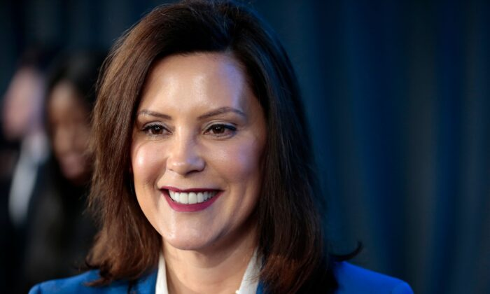Michigan Gov. Gretchen Whitmer speaks at the General Motors Detroit- Hamtramck assembly plant in Detroit, Mich., on Jan. 27, 2020. (Jeff Kowalsky/AFP via Getty Images)
