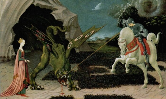 Saint George and the Dragon, by Paolo Uccello, circa 1470, held at the National Gallery, London. (Public Domain)