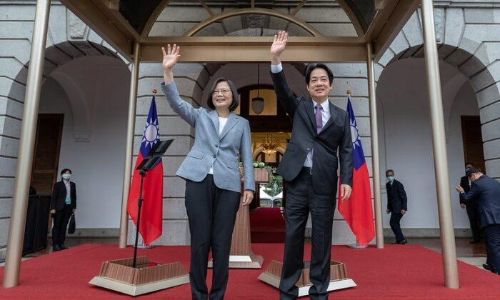 Taiwan President Tsai Ing-wen and Vice President William Lai attend inaugural celebrations at the Taipei Guest House on May 20, 2020. (Taiwan Presidential Office)