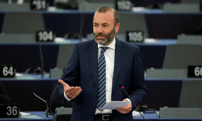 EU Parliament's political group European People's Party (EPP) President Manfred Weber speaks during a debate on Brexit at the European Parliament in Strasbourg, France, Sept. 18, 2019.   (Vincent Kessler/Reuters)