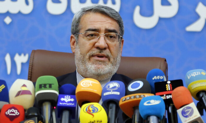 Iran's Interior Minister Abdolreza Rahmani Fazli speaks during a press conference in the capital Tehran, Iran, on July 1, 2018. (Atta Kenare/AFP/Getty Images)