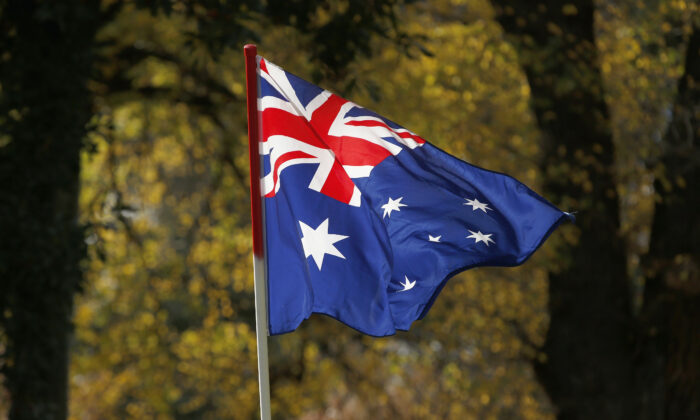 The Australian Flag is seen on June 25, 2017 in Melbourne, Australia. (Darrian Traynor/Getty Images)