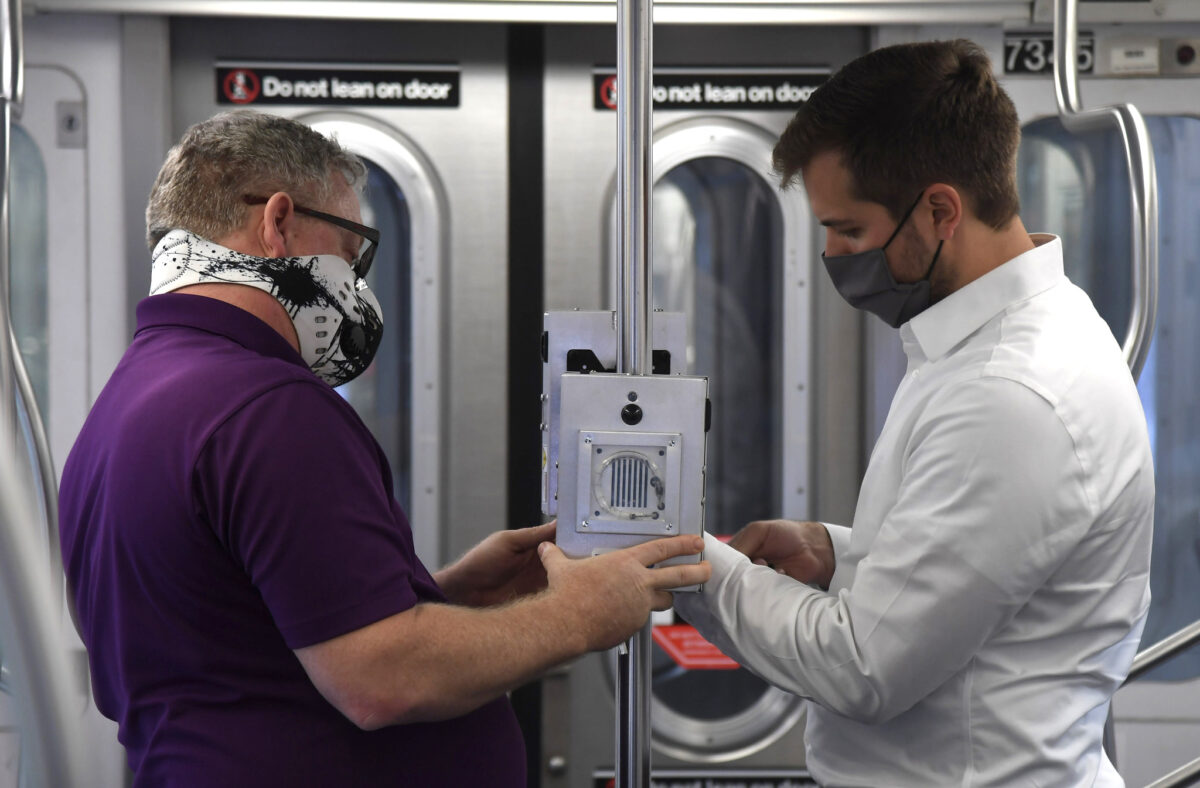 MTA Sets Up UV Light that Kills Coronavirus in New York Subways