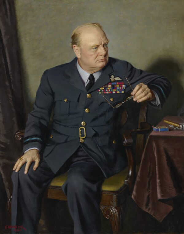 Portrait of Sir Winston Churchill, 1946, by Douglas Granville Chandor