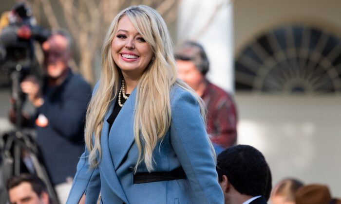 Tiffany Trump, the daughter of President Donald Trump, arrives for the turkey pardoning at the White House in Washington, on November 26, 2019. (Jim Watson/AFP/Getty Images)
