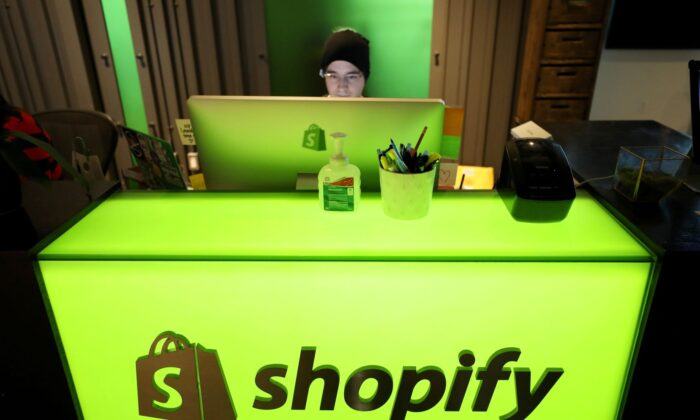 An employee works at Shopify's headquarters in Ottawa, Ontario, Canada, on Oct. 22, 2018. (Chris Wattie/Reuters)