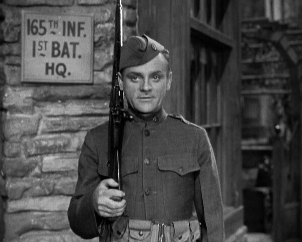 James Cagney with rifle in The Fighting 69th