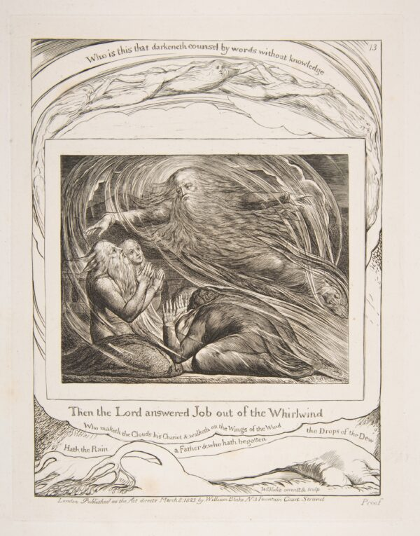 God and the whirlwind-William Blake