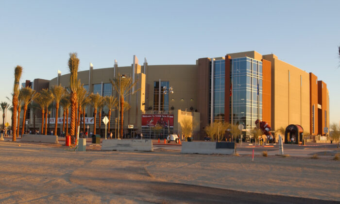 Exterior view of the Glendale Arena, home of the Phoenix Coyotes and located in the Westgate Entertainment District in Glendale, Arizona. (Barry Gossage/Getty Images)