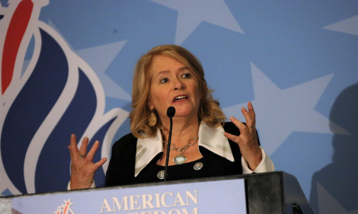 Karen Siegemund at last year's American Freedom Alliance conference. (Courtesy of Karen Siegeund)