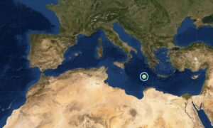 Magnitude 6.2 Earthquake Strikes Central Mediterranean Sea