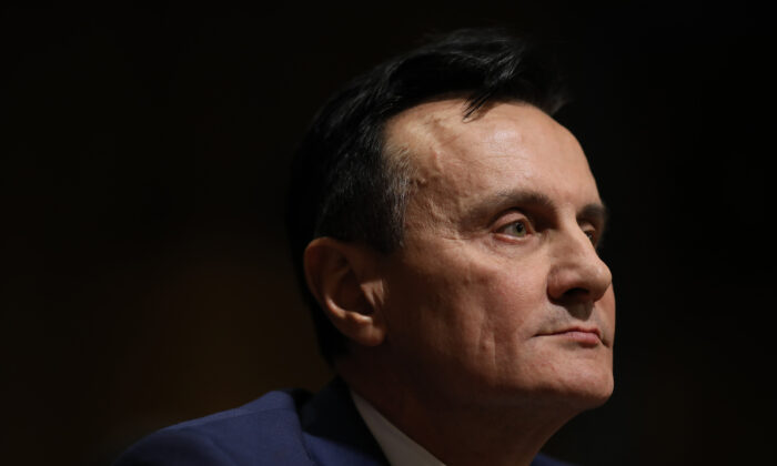 Pascal Soriot, executive director and CEO of AstraZeneca, testifies to Congress in Washington on Feb. 26, 2019. (Win McNamee/Getty Images)