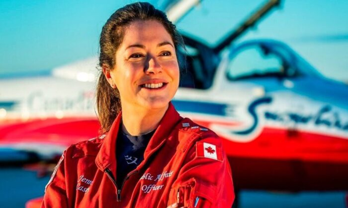 In this undated photo Capt. Jennifer Casey poses for a photo.  (Royal Canadian Air Force via AP)