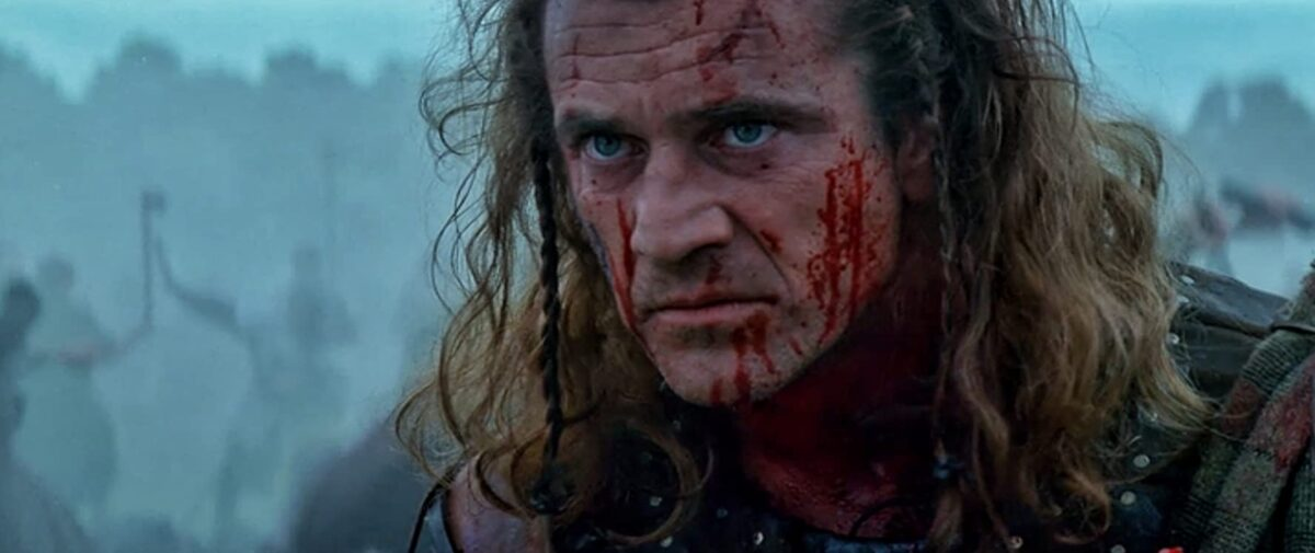 """man with bloody face in """"Braveheart"""""""