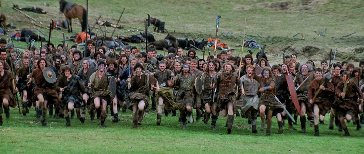 "scottish rebels running into battle in ""Braveheart"""