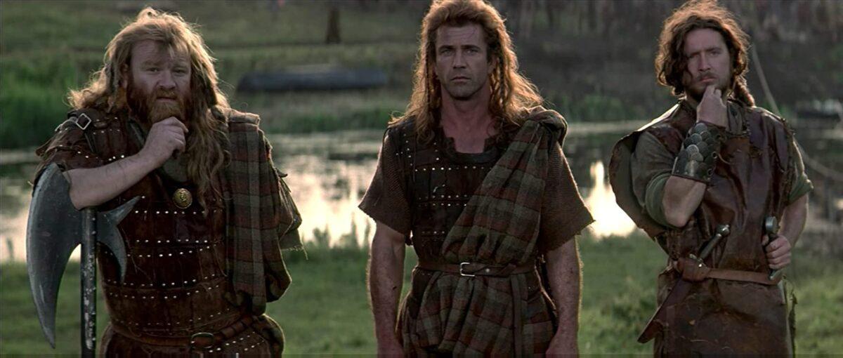 """Two Scottish warriors and an Irishman in """"Braveheart"""""""