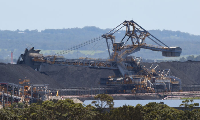 Part of the coal operations at the Port of Newcastle, NSW, Australia on Nov. 18, 2015. (William West/Getty Images)
