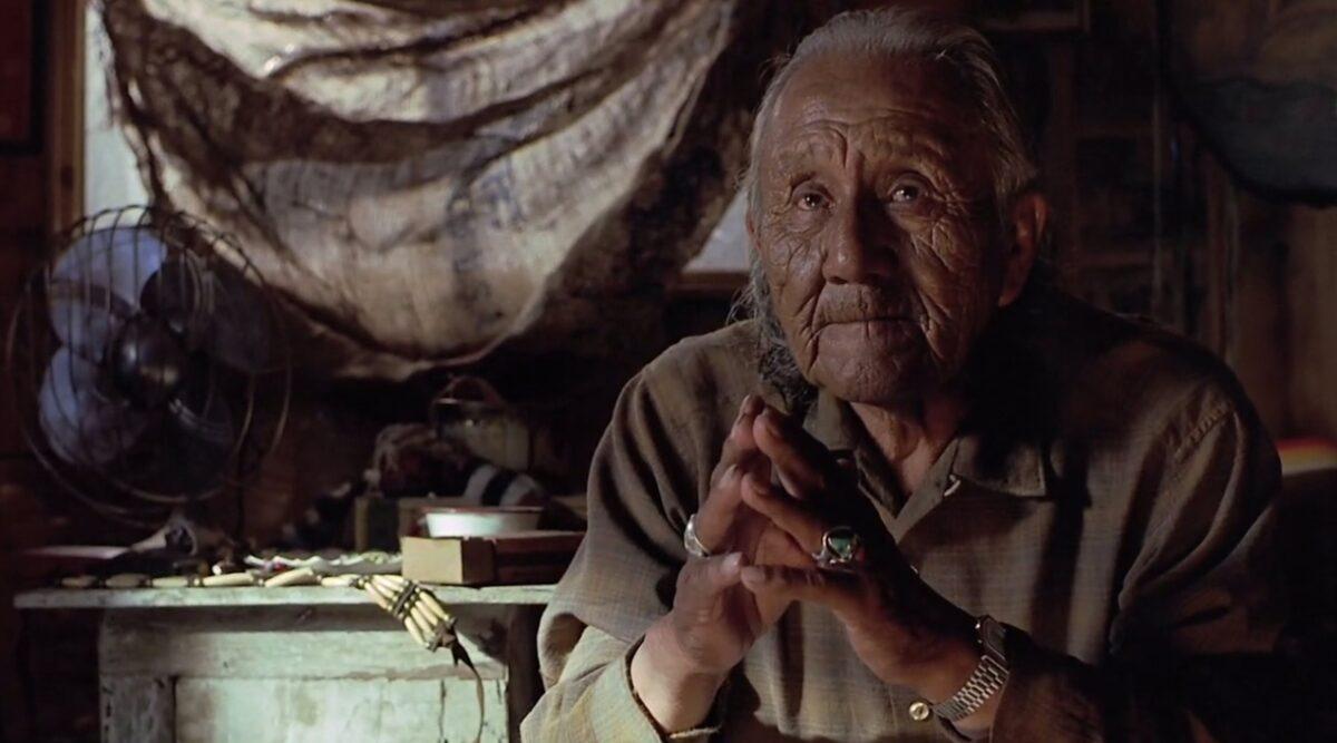 "old Sioux medicine man in ""Thunderheart"""