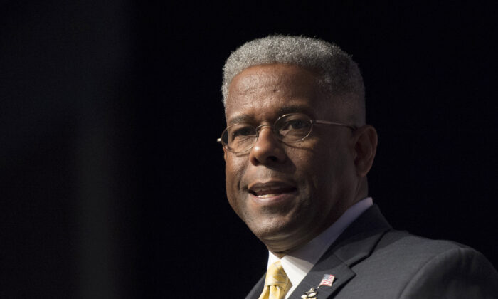 Former congressman and retired Lt. Col. Allen West speaks during Faith and Freedom Coalition's Road to Majority event in Washington on June 19, 2014. (Molly Riley/AP file photo)