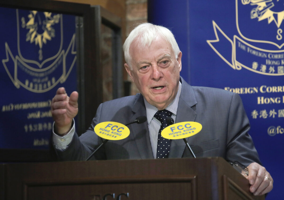 Chris Patten, Hong Kong's last British governor