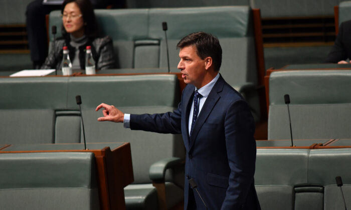 Minister for Energy Angus Taylor, House of Representatives at Parliament House, Canberra, Australia, May 13, 2020. (Sam Mooy/Getty Images)