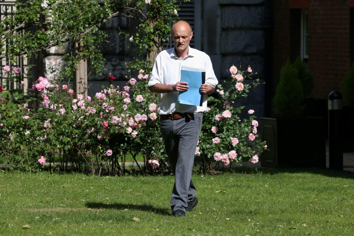 Dominic Cummings, special advisor for Britain's Prime Minister Boris Johnson
