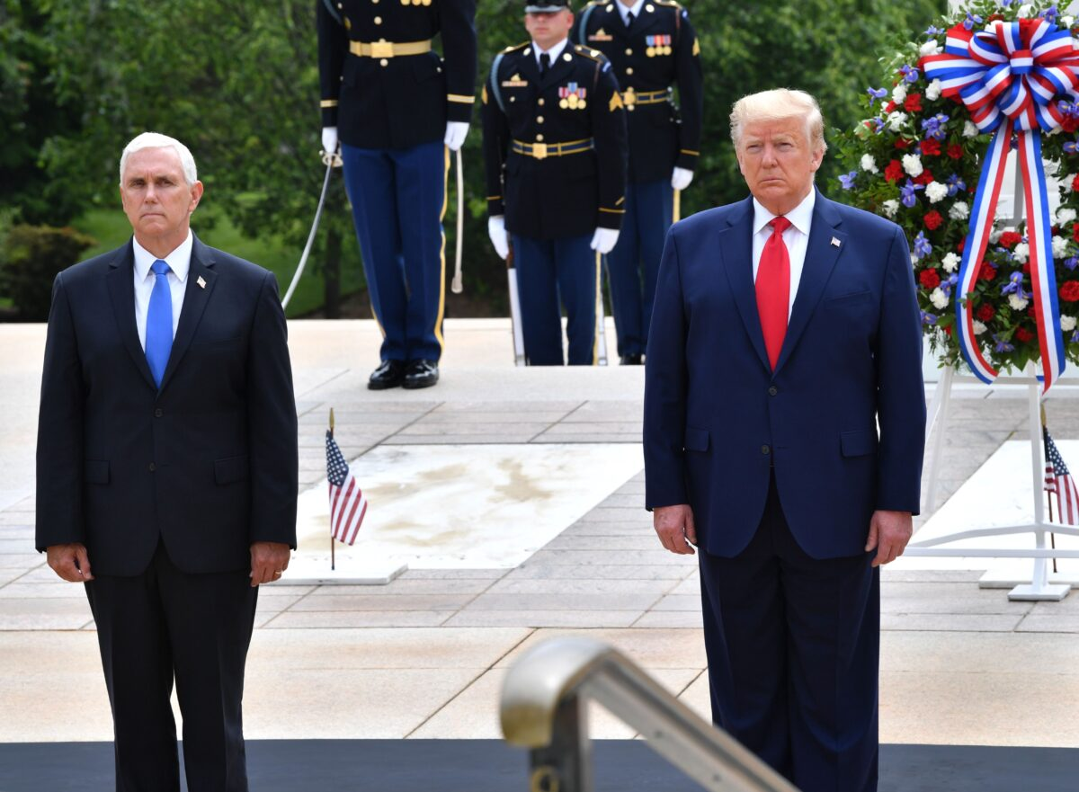 President Donald Trump(R) and Vice President Mike Pence