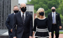 Biden Dons Mask in Rare Public Appearance on Memorial Day