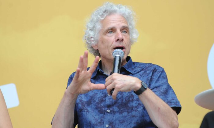 Steven Pinker speaks onstage during OZY Fest 2018 at Rumsey Playfield, Central Park in New York City on July 21, 2018. (Brad Barket/Getty Images for Ozy Media)