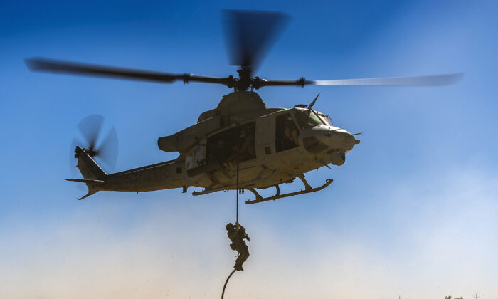 A Huey helicopter in a file photo. (U.S. Air Force photo by Tech Sgt. Efren Lopez/Released)