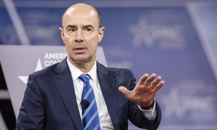 Secretary of the Department of Labor, Eugene Scalia, speaks during the Conservative Political Action Conference 2020 (CPAC) hosted by the American Conservative Union in National Harbor, Md. on Feb. 28, 2020. (Samuel Corum/Getty Images)