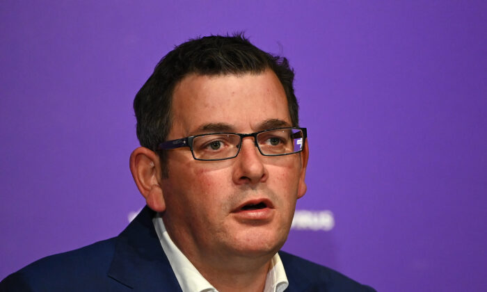Victorian premier Daniel Andrews speaks to the media on May 11, 2020 in Melbourne, Australia. (Quinn Rooney/Getty Images)