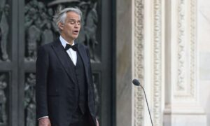Singer Andrea Bocelli Donates Blood Plasma After Recovering From COVID-19