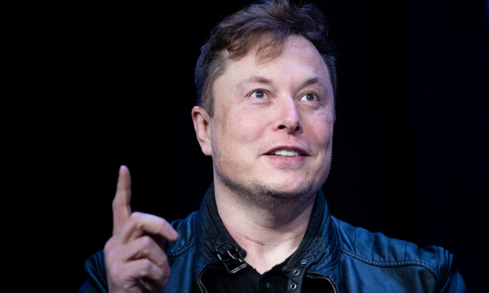 Elon Musk, founder of SpaceX, speaks during the Satellite 2020 at the Washington Convention Center in Washington on March 9, 2020. (Brendan Smialowski/AFP via Getty Images)