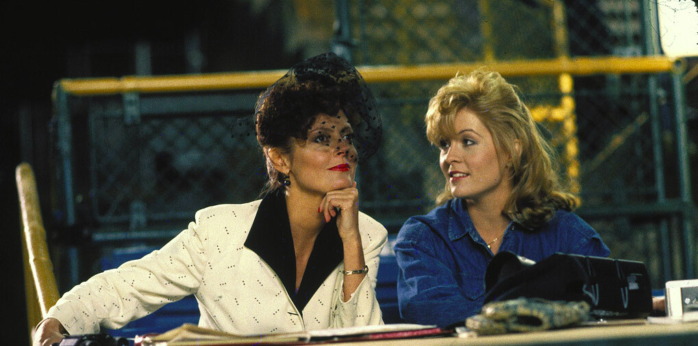 """Woman in white, woman in blue in """"Bull Durham"""""""