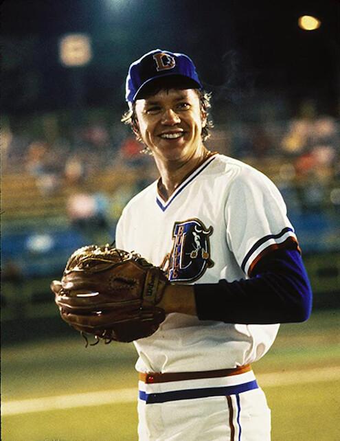 "baseball pitcher in ""Bull Durham"""