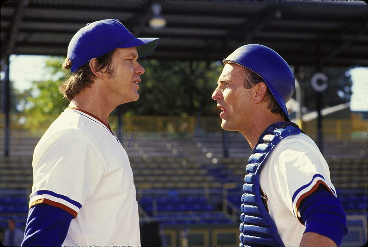 """Two baseball players arguing in """"Bull Durham"""""""