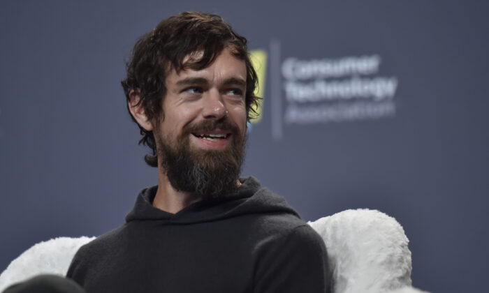 Twitter CEO Jack Dorsey speaks during a press event at CES 2019 at the Aria Resort & Casino in Las Vegas, Nev. on Jan. 9, 2019. (David Becker/Getty Images)