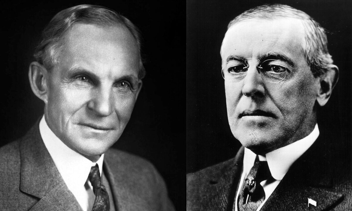Woodrow Wilson, Henry Ford, and the Dispute Over...
